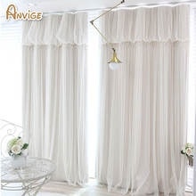 Tassels lanterns head top curtain cloth curtain voile sheer black out fabric bedroom customize curtain
