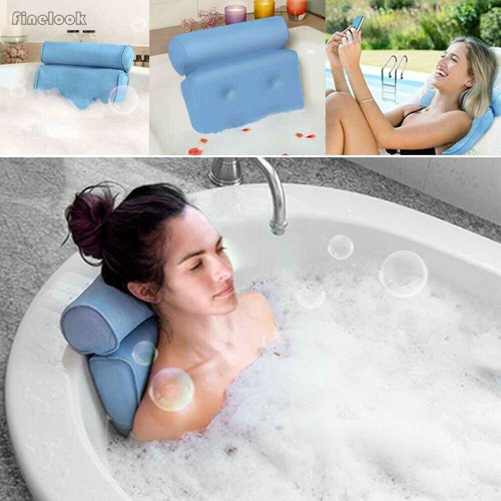 Gorący sprzedaje 3D siatki poduszka do kąpieli Spa poduszka do wanny z hydromasażem Jacuzzi z 4 przyssawkami