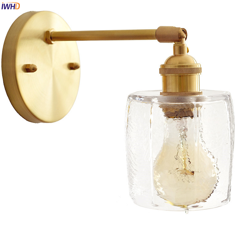 IWHD Nordic Glass Edison Wall Lights Fixtures Bedroom Living Room Modern LED Wall Light Sconce Beside Lamp Lampara Pared iwhd nordic modern led wall lamp living room fabric switch led wall light stair arandela lampara pared