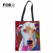 22345557a941 FORUDESIGNS Messenger Bag Women for Ladies Handbag Girls Shoulder Bags Pit Bull  Terrier Painting Large Tote