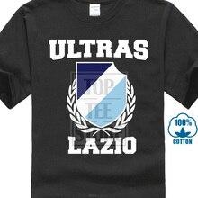 ef69eb4a5ee Ultras Lazio Black Tee Shirt Footballfans T Shirts Mens Fashion Short  Sleeves Cotton Bottoming T Shirt