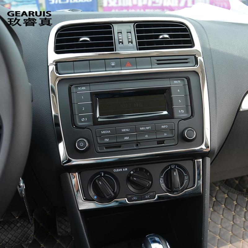 Автомобильный Стайлинг для Volkswagen vw POLO интерьерная крышка наклейка отделка кондиционера CD панель управления Авто воздушный выход украшение