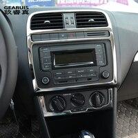 Автомобильный Стайлинг для Volkswagen vw POLO внутреннее покрытие стикер отделка кондиционер CD панель управления авто украшение для вентиляционно...