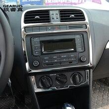 Автомобиль Стайлинг для Volkswagen vw мужские поло интерьер Обложка стикеры отделкой кондиционер CD управление Панель Авто выход украшения