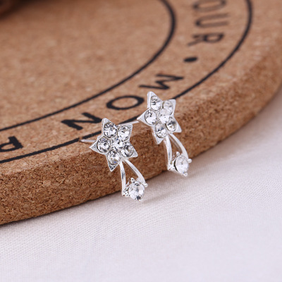 Clearance Sale Silver Combination Zircon Inlaid Drop Dangle Earrings Shiny Animal Plants Gift from Girlfriend 1