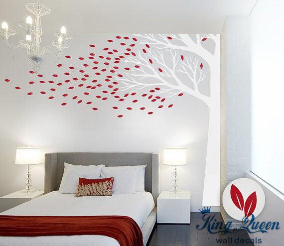 Corner Tree Wall Decal Vinyl Wall Art   Large Wall Sticker For Bedroom Living  Room Home Decor