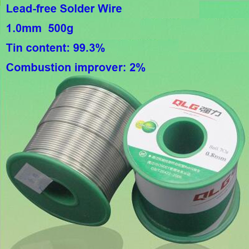 Quality Promise 1.0mm 500g Environment Friendly Soldering Tin Wire Lead-Free Solder Wire 99.3% Tin Content 0.7% Copper Content 500g 0 5 0 6 0 8 1 0mm tin lead soldering wire solder wire weld accessory