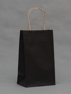 Size 21x13x8 Gift Paper Bags Shopping Black Color Kraft Promotion Bag For Jewelry Bags