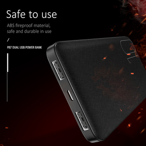 Image 3 - USAMS נייד 10000 mAh כוח בנק Slim חיצוני סוללה 10000mah עבור iPhone Xiaomi Huawei Oneplus כפולה USB מטען Powerbank