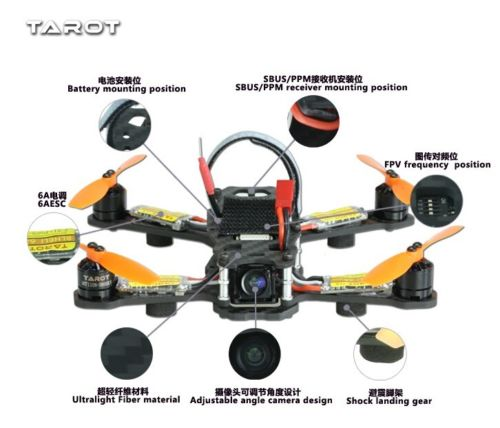 Tarot Quadcopter TL150H1 150mm 4-Axis Quadcopter Aircraft with Camera quadcopter