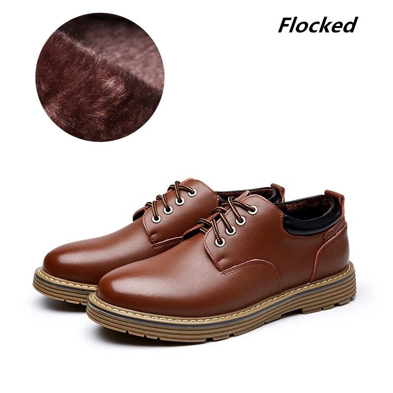 Unisex 2018 Casual Genuine Leather Boots Men Black Mens Boots Men Dr Martins Men Shoes Work Safety Shoes Plus Size 38-44
