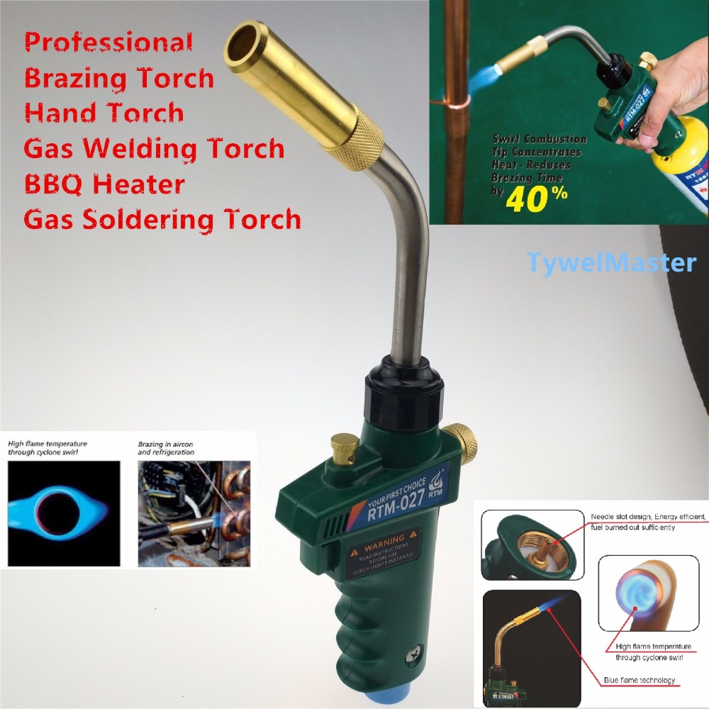 Mapp Gas Brazing Torch with Self Ignition Trigger suit 14 1 16oz MAPP Propane Cylinder CGA600