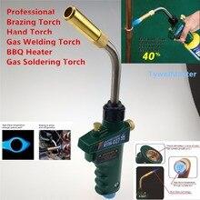 МАПП газа пайки факел с самовоспламенение триггера Костюм 14.1-16 унц. МАПП пропан цилиндр CGA600 (1″ -20unef) Пайка факел горелки