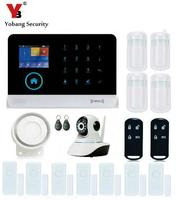 Yobangбезопасности Беспроводной Wi fi домашняя бизнес охранная система охранная сигнализация wifi ip камера сирена PIR датчик движения двери