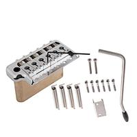 ST Electric Guitar Tremolo System Brass Bridge with Stainless Steel Saddles