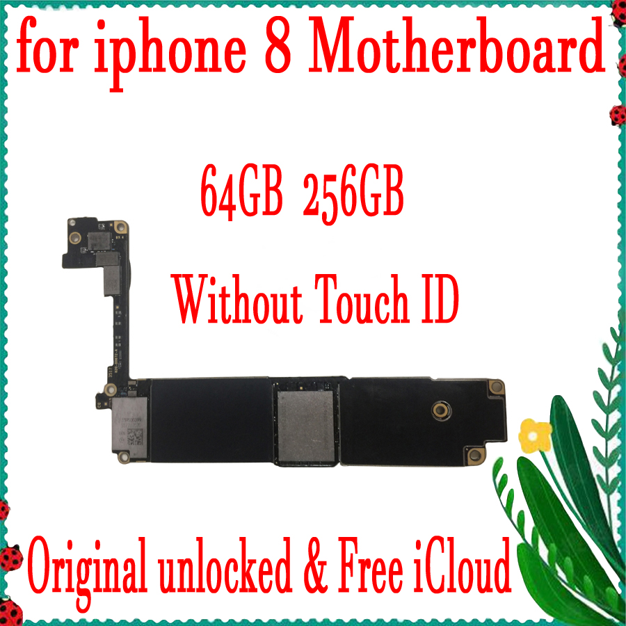100% Original Unlocked for <font><b>iphone</b></font> <font><b>8</b></font> 4.7 inch <font><b>Motherboard</b></font> <font><b>With</b></font>/Without <font><b>Touch</b></font> <font><b>ID</b></font> for <font><b>iphone</b></font> <font><b>8</b></font> Logic board Good Tested image