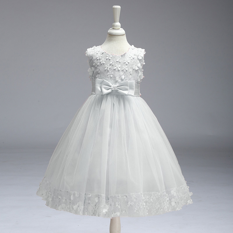 Lace White Puffy Flower Girl Dresses 2018 High Low Lace Appliques Communion Dresses Pageant Dresses For Little Girls