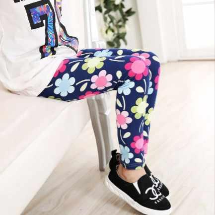 1261546ca38e7 3pcs/lot flower star butterfly leggings girl autumn legging kids pink blue  green navy leggins
