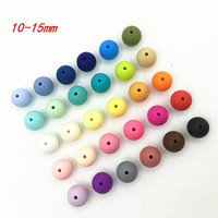 Silicone Beads Round Candy Color 100PC Baby Teether 10 15mm Accessories Infant Necklace Pendant DIY