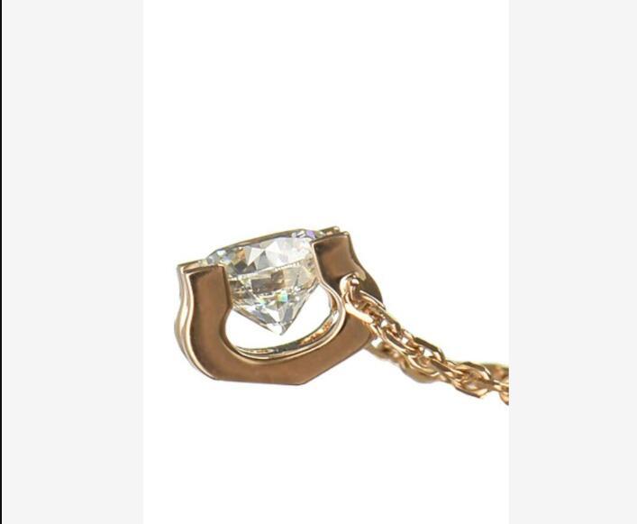 1.0ct 6.5 مللي متر VVS1 مواطنه جولة قص 14 K الذهب الأبيض مويسانيتي قلادة مع 14 K الذهب سلسلة قلادة ل النساء في غرامة مجوهرات-في قلادات من الإكسسوارات والجواهر على  مجموعة 1