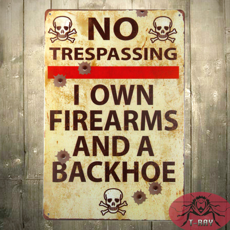 No shooting Tin plate sign Art wall decoration Garage Vintage home decor H-26 cheaper price