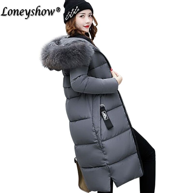 Women Long plus size Jackets Padded-Cotton Coats Winter Hooded Warm Wadded Female Parkas Fur Collar Outerwear new women winter cotton jackets long coats hooded fur collar parkas thick warm jacket plus size female slim outerwear okxgnz1072