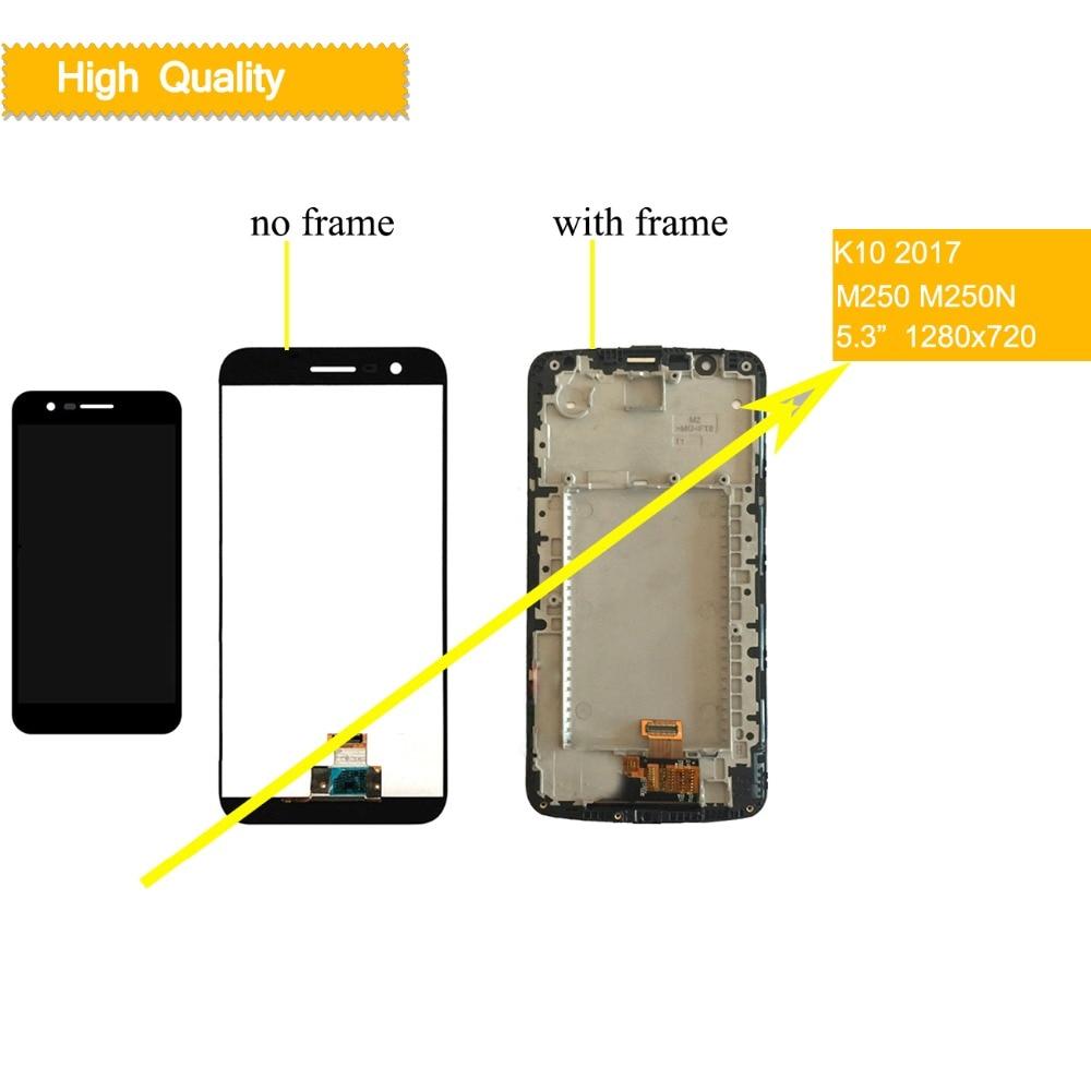 10 unids/lote pantalla para LG K10 2017 LCD de pantalla táctil con marco K10 2017 pantalla M250 M250N M250E M250DS lcd digitalizador de montaje-in Teléfono Móvil LCD pantallas from Teléfonos celulares y telecomunicaciones on AliExpress - 11.11_Double 11_Singles' Day 1