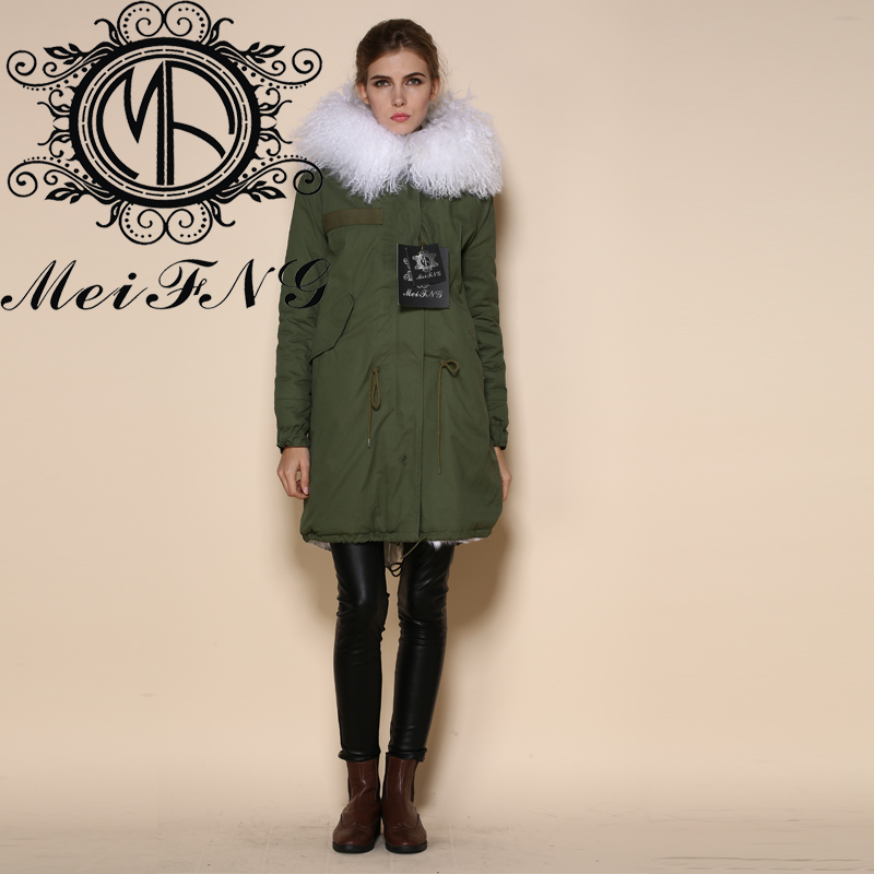 Aliexpress.com : Buy Nature color women long jacket hooded fur ...