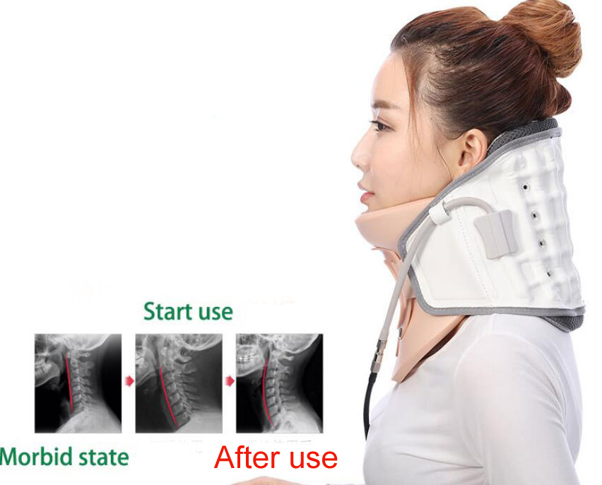 neck traction device household stretched cervical traction inflatable cervical spondylosis cervical collar hanging neck framein massage u0026 relaxation from