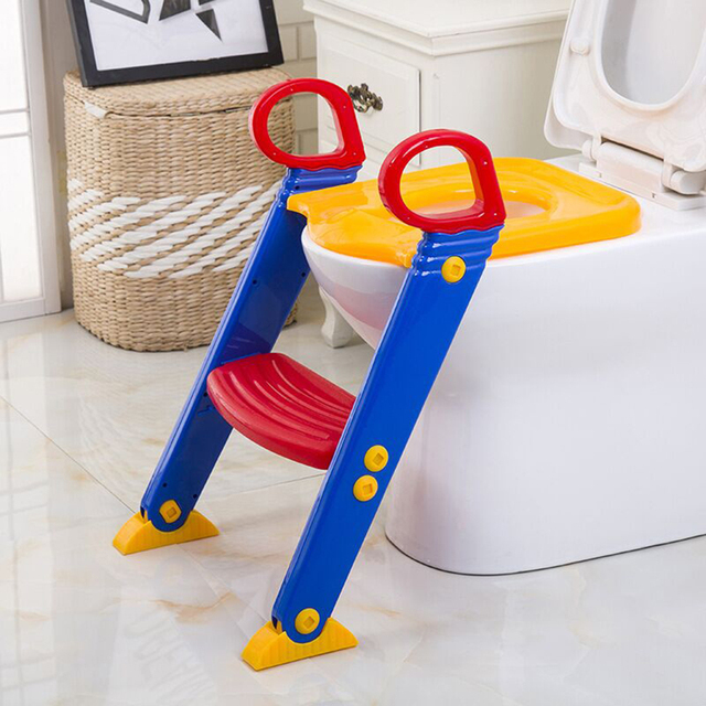 Baby Kids Toilettes with Adjustable Ladder Chair Folding