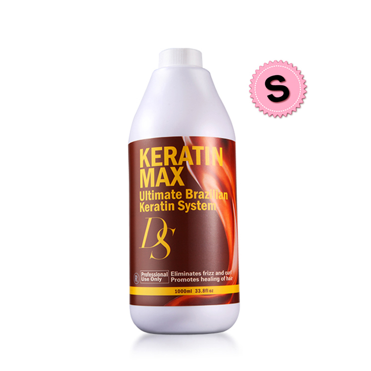 Top Quality 1000ml DS Max Brazilian Keratin Treatment 12% Formalin Straighten and Repair Damaged Hair Mask Free Shipping top quality hot sale 1000ml brazilian keratin hair treatment 12% formalin straighten and repair damaged hair mask free shipping