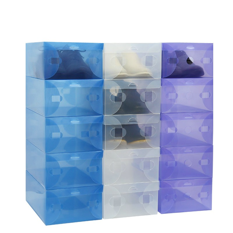 10X-Transparent-Clear-Plastic-Shoe-Boot-Box-Stackable-Foldable-Storage-Organizer (2)