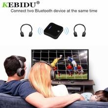 Kebidu บลูทูธ 5.0 เครื่องส่งสัญญาณไร้สาย aptX HD Optical Toslink Audio 3.5 มม.AUX/RCA และอะแดปเตอร์สำหรับทีวี/หูฟัง