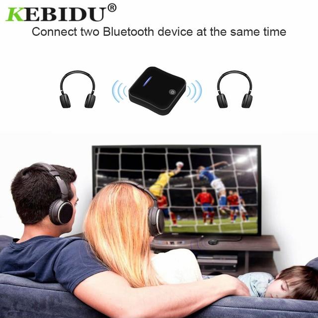 Kebidu 핫 블루투스 5.0 송신기 수신기 무선 aptx hd 광학 toslink 오디오 3.5mm aux/rca & amp 어댑터 tv/헤드폰