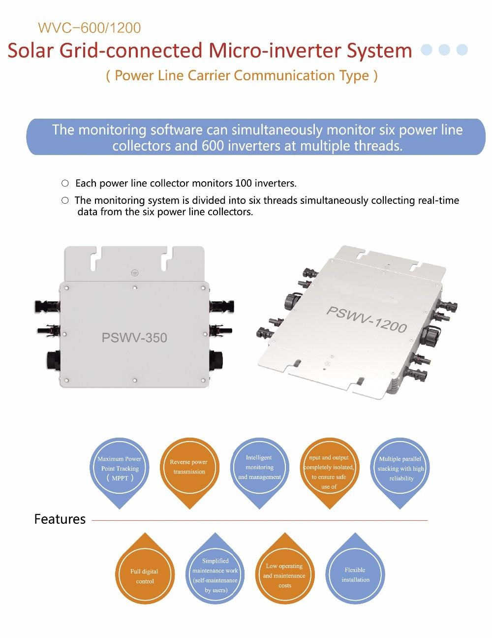 1200W 120V/230V AC MPPT Waterproof IP65 Grid Tie Solar Power Micro Inverter maylar 22 60vdc 300w dc to ac solar grid tie power inverter output 90 260vac 50hz 60hz