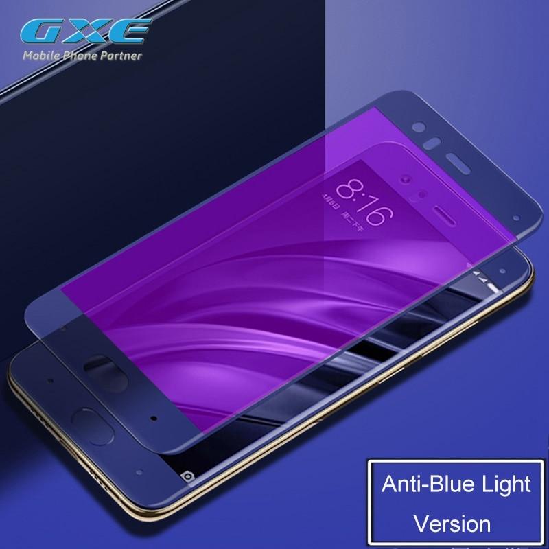 Xiaomi Max Mi6 Mi 5C 5S Plus Mavi Yumşaq Kənar Şüşə Film - Cib telefonu aksesuarları və hissələri - Fotoqrafiya 4