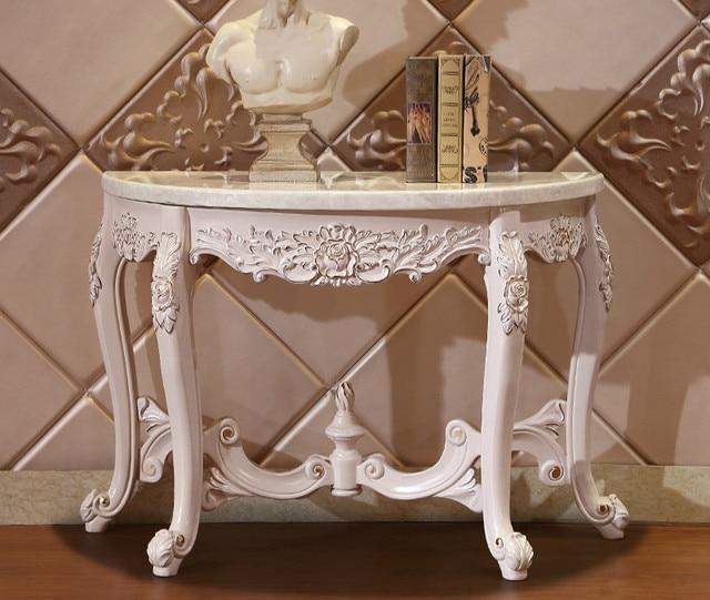 Luxury Design Solid Wood Entrance Console Table Muebles De Cocina