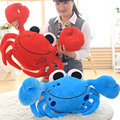 55cm Crab Simulation Plush Kids Blue Red Color Toys Soft Stuffed Animal Sleeping Dolls Birthday Gifts Pet Model C23