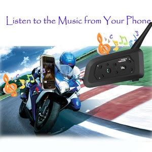 Image 4 - 2020 Version V6 1200M 6 Riders BT Multi Interphone Bluetooth Intercom Motorcycle Wireless Headsets Headphones Helmet Headset