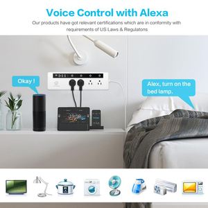 Image 3 - WIFI Smart Power Surge Protector US/ญี่ปุ่น,Alexa Voice Control,REMOTE Storage,บ้านจับเวลา 4 ซ็อกเก็ต 3 USB + Type C