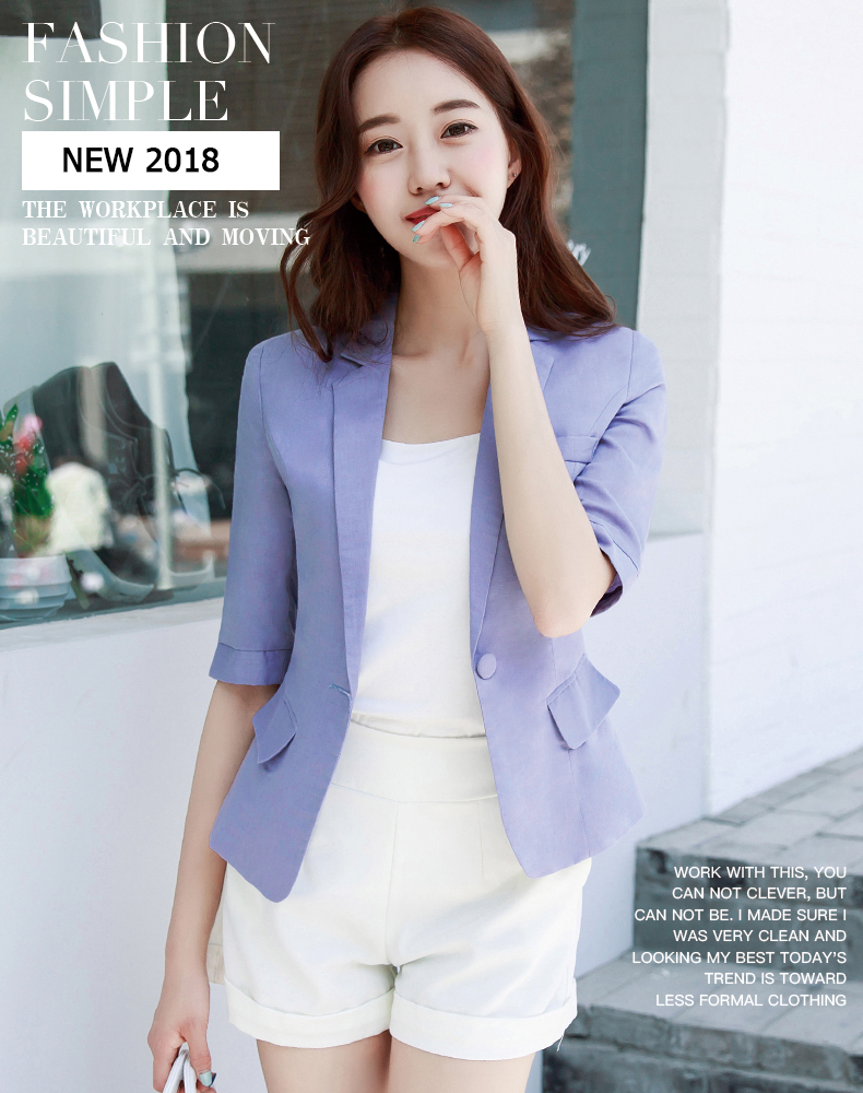 17f4d27bdb56 2019 2018 New Plus Size Womens Business Suits Female Linen Blazers ...