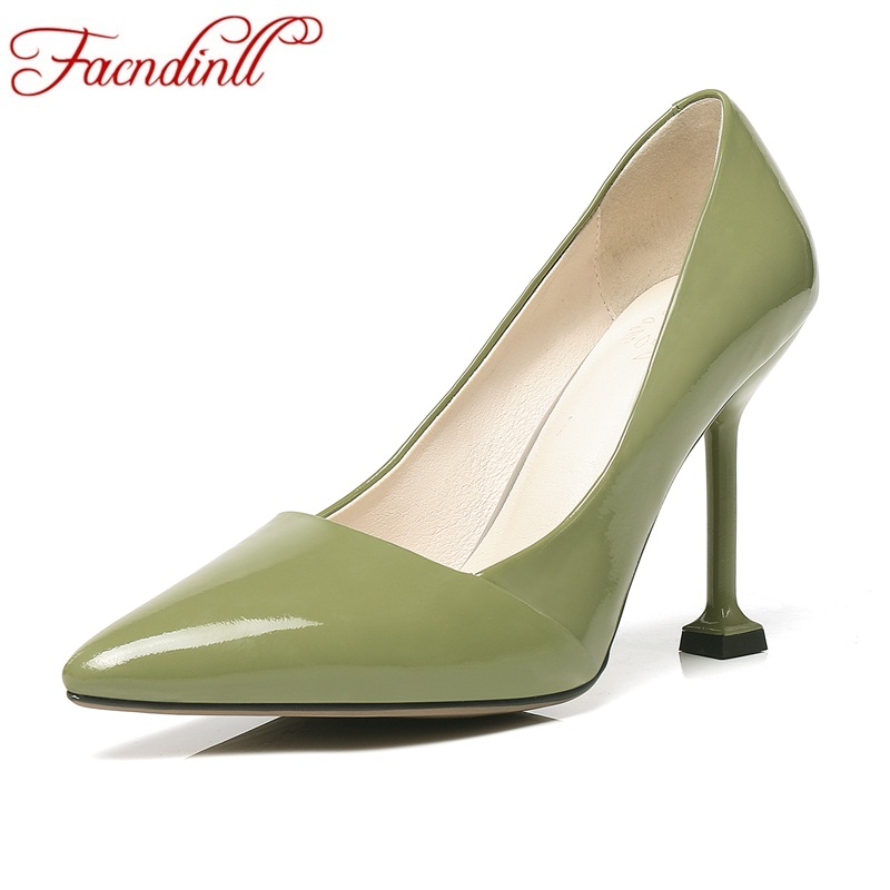FACNDINLL shoes new fashion spring summer sexy thick high heels pointed toe shoes woman office pumps women dress party shoes fashion new spring summer med high heels good quality pointed toe women lady flock leather solid simple sexy casual pumps shoes
