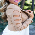 Повседневная Хлопок Мода Женщины Теплый Тонкий Пальто Куртка Короткая Куртка Пальто Длинный Зимний Пиджаки
