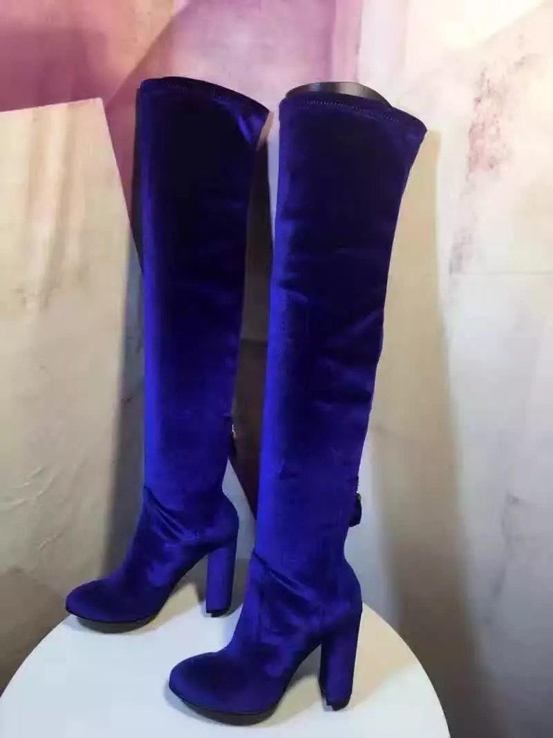 Online Get Cheap Blue Thigh High Boots -Aliexpress.com | Alibaba Group