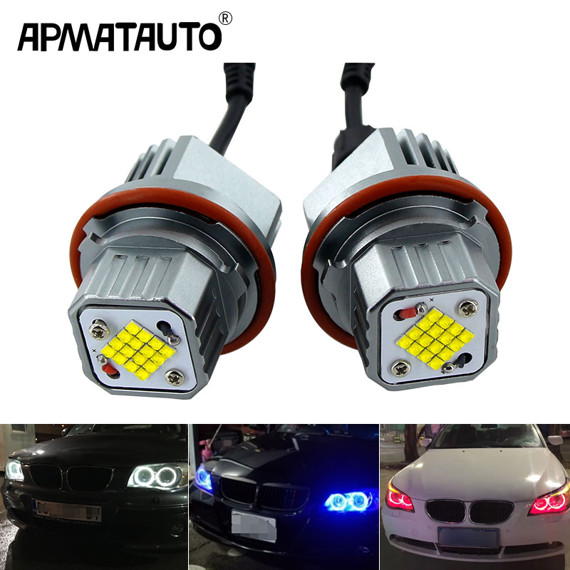 Chrome Ultra Power BMW 5 Series E39 Ring Projector Angel Eye Front Headlights