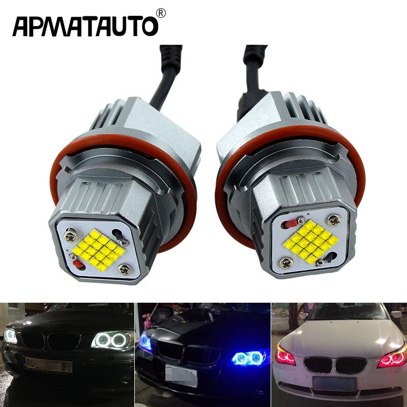 2x 160W Angel Eyes Error Free LED Halo Ring Light Bulbs For BMW E83 E60 E61 E53 E64 Super Bright Car Front Light Lamp Headlight