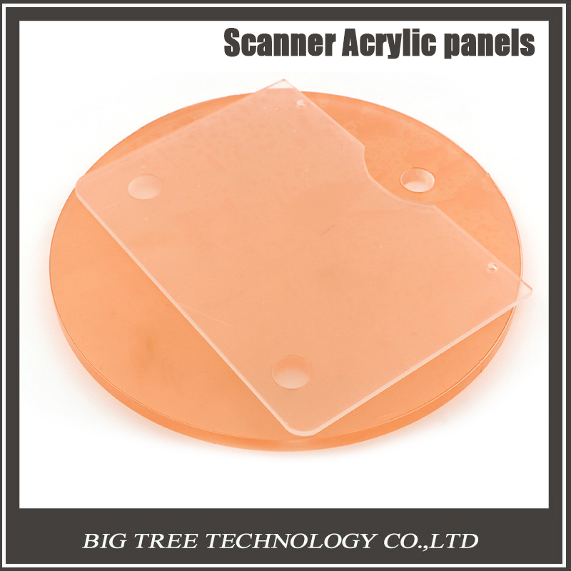 ФОТО Free shipping Scanner acrylic sheet A circle with a rectangle for 3d printer part 3D0263