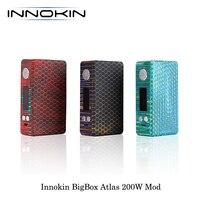 Электронные сигареты Innokin BigBox Atlas 200 Вт TC канифоль мод питание от Двойной 18650 батареи Vape испаритель VS VOOPOO VMATE