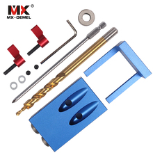 ФОТО Mini Kreg Style Pocket Hole Jig Kit System  Wood Working  Joinery  Step Drill Bit  Accessories Wood Work Tool Set With Box