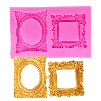 Frame Cake Border Silicone Molds Cupcake Fondant Cake Decorating Tools Candy Clay Chocolate Gumpaste Bakeware Moulds T1189